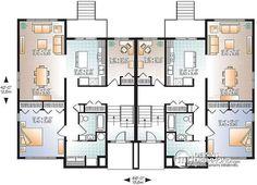 Petit duplex chaleureux style maison avec sous sol for Plan maison 6 chambres