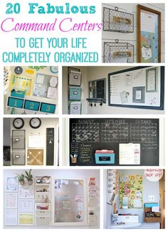 20 Fabulous Command Centers to Get Your Life Completely Organized at The Happy Housie