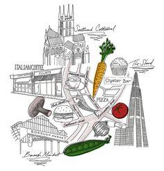 V2 Jitesh Patel Illustration Borough Market London Illustration