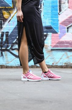 Pretty in pink. Brand new Womens Adidas Flux sneakers. Shop: http://www.shoeconnection.co.nz/products/ADUQNR4X2KA