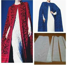 Best seller kaftan cape pattern 😍 Order via line Diy Clothing, Sewing Clothes, Clothing Patterns, Dress Patterns, Sewing Patterns, Dyi Couture, Formation Couture, Mode Abaya, Diy Fashion