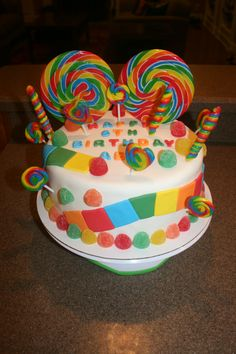 Candyland  / Candy Birthday Cake  http://www.facebook.com/#!/BeeSweetConfections