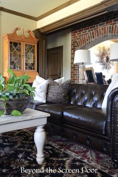 """Chesterfield Leather Sofa by Bernhardt """"London Club"""" 
