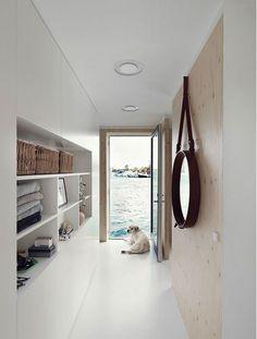 Inspiring houseboat in Copenhagen