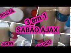 SABÃO LÍQUIDO 3 em 1 SUPER POTENTE TIPO AJAX - YouTube