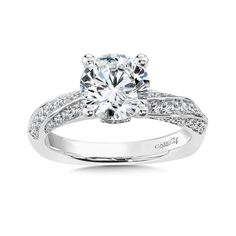 - Diamond Engagement Ring with Side Stones in White Gold with Platinum Head ct. Classic Engagement Rings, Engagement Ring Styles, Diamond Engagement Rings, Diamond Rings, Diamond Jewelry, Engagement Ring Jewelers, Dream Ring, Jewelry Organization, Custom Jewelry