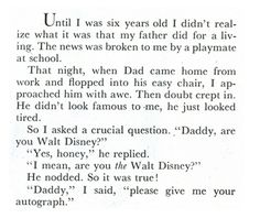 Walt Disney and his daughter. So cute.