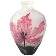 Daum French Art Nouveau Cameo Glass Vase