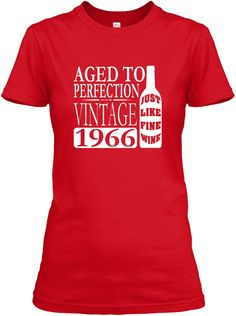 1966 Vintage Wine 50th Birthday Party T-shirts, Bella Flowy Tanks and Sweatshirts for Women and Men. Happy Birthday! Secure checkout.