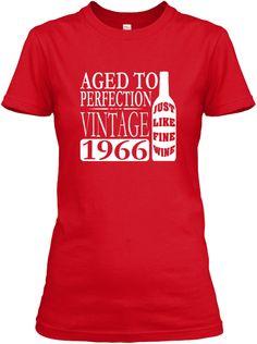 1966 Vintage Wine 50th Birthday T Shirt
