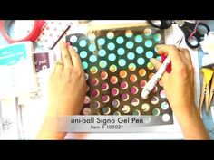 Cards! Cards! Monday: Stampin' Up! Dots Stencil, Sponged Ink, Off-Set Drawn Circles- One Layer Card - YouTube