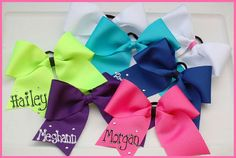 PERSONALIZED CHEERLEADING HAIRBOWS...CHEER BOWS!... NEED!
