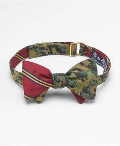 men's camo reversible bow tie...dary but fun