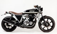 RocketGarage Cafe Racer: Kawasaki Z1100 ST Shaft. I'm not a Kawasaki fan but I must admit this cafe race is a beauty