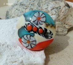 Handgewickelte Glasperle - Medaillon - von glasswork auf DaWanda.com