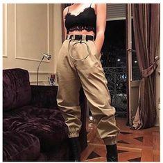 Women's Cargo Pants Baggy Fashion Girl Design Street Style Streetwear – Center Of Treasures Grunge Outfits, Edgy Outfits, Mode Outfits, Fashion Outfits, Skater Outfits, Fashion Mode, Grunge Fashion, Korean Fashion, Girl Fashion