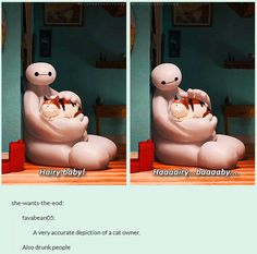Big Hero 6 - Hairy Baby! [gifset] - cat people