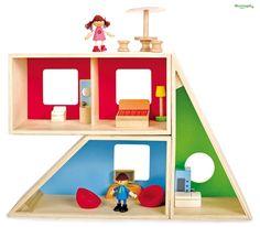 CASA DELLE BAMBOLE MODULARE in Legno con MOBILI E PERSONAGGI cm 60x30x12 per bambini. Età 3 Anni HapeTre, due, uno decollo!Crea la casa dei tuoi sogni con questa casa delle bambole modulare. Crea la forma che vuoi. I mobili e i personaggi sono inclusi. Puoi decidere di creare nuovi ambienti.La casa delle bambole ed i mobili sono in legno naturale, i colori sono atossici.Dimensioni cm 60 x 30 x 12Dimensioni scatola cm 48 x 32 x 13Colori atossici -Marchio CEAdatto per bambini di età ...
