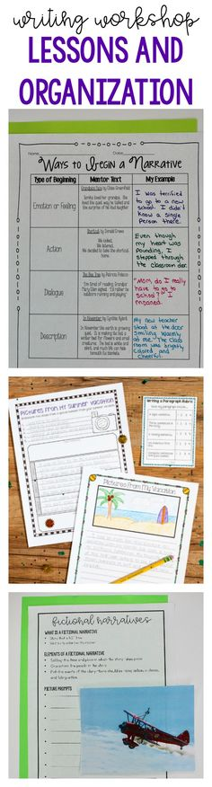 Get great ideas for your writing workshop lessons and organization.