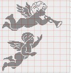 Cross Stitch Fabric, Cross Stitch Charts, Cross Stitch Designs, Cross Stitch Patterns, Crochet Angel Pattern, Crochet Angels, Crochet Patterns, Embroidery Applique, Cross Stitch Embroidery