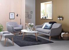 Liten lounge- sofa og stol