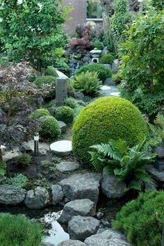 Creating a Japanese garden. Making a Japanese style Garden - - Creating a Japanese garden from scratch in your own back yard – here's how. This is the story of Ramon's Japanese Garden. Japanese Garden Plants, Japanese Garden Landscape, Japan Garden, Japanese Gardens, Japanese Rock Garden, Zen Rock Garden, Garden Types, Garden Paths, Garden Structures
