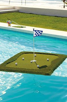 Floating Golf Green...going to have to get this for my husband