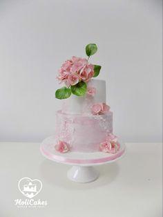 Hydrangea  by MOLI Cakes - http://cakesdecor.com/cakes/290561-hydrangea