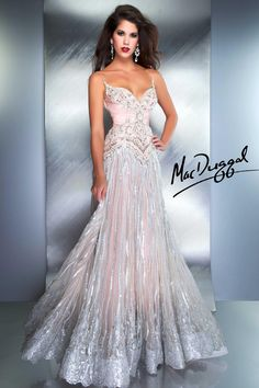 Strap Couture Gown in Blush Smoke - Mac Duggal