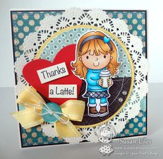 Ellie Loves Lattes by susiestampalot - Cards and Paper Crafts at Splitcoaststampers Split Coast Stampers, Thanks A Latte, Tiddly Inks, Envelope Art, Copic Markers, More Fun, Thankful, Paper Crafts, Crafty