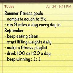 Fitness Friday- Fitness Goals & Green Beans | Justina's Gems: Fitness Friday- Fitness Goals & Green Beans
