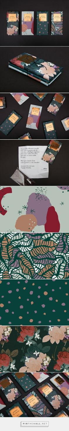 Amour & cacao by Marie-Joëlle Lemire, Imédia Firme Créative, Valerie Pilotte. Decorative pattern illustration used with gold foiled section to give the effect of luxury and style. Luxury Packaging, Tea Packaging, Paper Packaging, Brand Packaging, Design Packaging, Bottle Packaging, Packaging Design Inspiration, Graphic Design Inspiration, Brand Identity Design