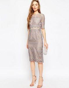 ASOS Premium Occasion Lace Pencil Dress