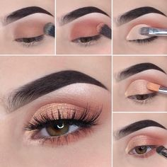 Schönes Augen Make-up Step by step how to achieve a soft glam makeup tutorial look Wedding Favors – Makeup Looks For Green Eyes, Makeup Eye Looks, Smoky Eye Makeup, Eye Makeup Steps, Red Lip Makeup, Makeup For Brown Eyes, Glam Makeup, Makeup Kit, Makeup Eyeshadow