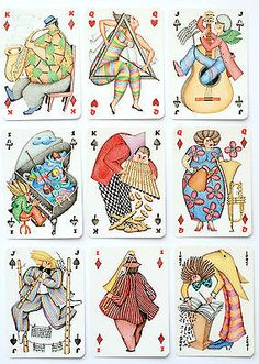 1984-LE-JEU-DES-MUSICIENS-p-cards-Grimaud-Artist-SILVIA-MADDONNI
