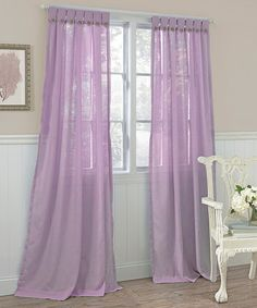 Take a look at this Lilac Easton Curtain Panel - Set of Two by Beatrice Home on #zulily today! In Blue, Yellow.