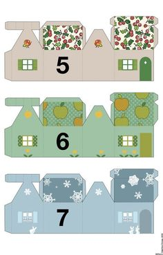 free printable advent calendar houses #5 #6 #7 (del4yo.squarespace.com)