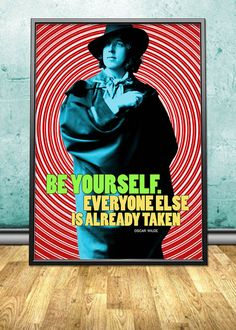 """Oscar Wilde printable instant download poster - good for decorating any interior - either in your homes and offices or in your shops, cafes, bookstores, dorms, etc. By pahleeloola. Use the coupon code, """"PIN10"""" for 10% off on your entire purchase! Click to buy and print!"""