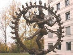 Aldous Huxley Describes the Dancing Shiva Image. (Statue of Shiva Nataraja at CERN - the international organization whose primary function is the oversight of the Large Hadron Collider (LHC) which is located on the French/Swiss border.)
