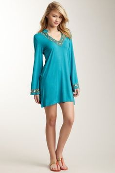 Jade Beaded bathing cover up