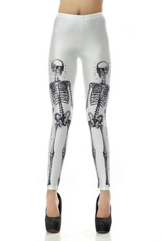 SEXY LADY GALAXY LEGGINGS PRINTED COSMIC SPACE PANTS TIE DYE TIGHTS NEW VINTAGE FASHION HUMAN SKULL WHITE DIGITAL PRINTING SEXY LEGGINGS FOR WOMEN