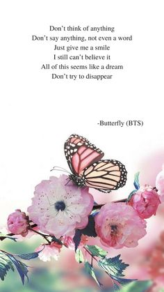 Butterfly by BTS lyrics wallpaper