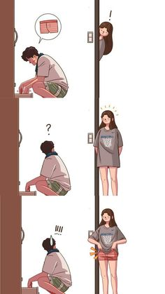 Funny GIFS and funny pictures Love Cartoon Couple, Cute Couple Comics, Couples Comics, Cute Love Cartoons, Cute Couple Art, Anime Love Couple, Funny Couples, Cute Anime Couples, Calin Couple
