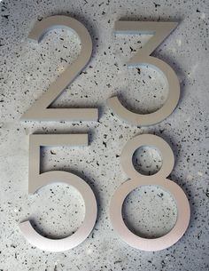 Hey, I found this really awesome Etsy listing at https://www.etsy.com/listing/73423265/modern-house-numbers-recycled-aluminum-8