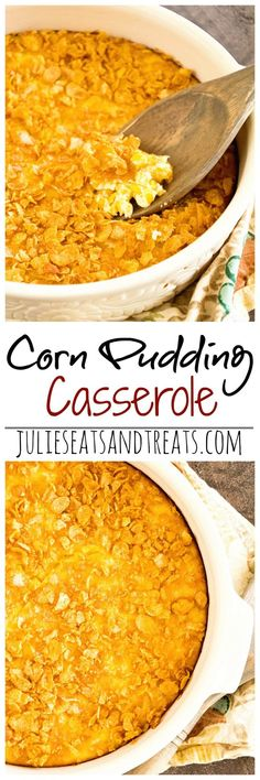 Corn Pudding Casserole Recipe ~ Delicious Side Dish Perfect for Entertaining Yet Quick Enough for Dinner!