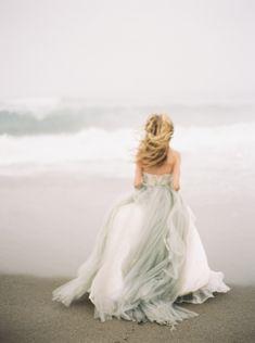 """Elizabeth Dye """"Halo"""" gown Grey wedding dress #greywedding #weddingdress #wedding"""