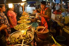 the famous evening food markets...very spicy...