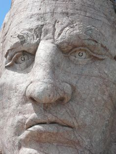 The face of Crazy Horse. Places To See, Places Ive Been, North South, Crazy Horse, South Dakota, Roads, Sd, Mount Rushmore, North America