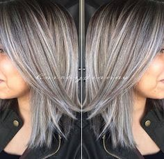 Amazing Grey/Silver Highlights!