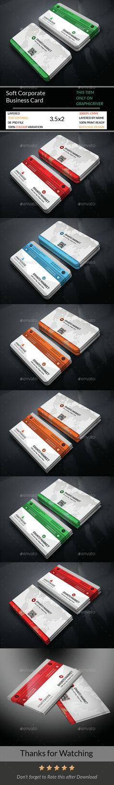 Soft Corporate Business Card